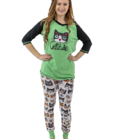 Cattitude - Women's Tall Tees PJ Top - Lazy One®